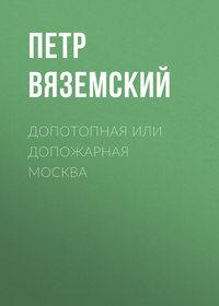 Петр Вяземский - Допотопная или допожарная Москва
