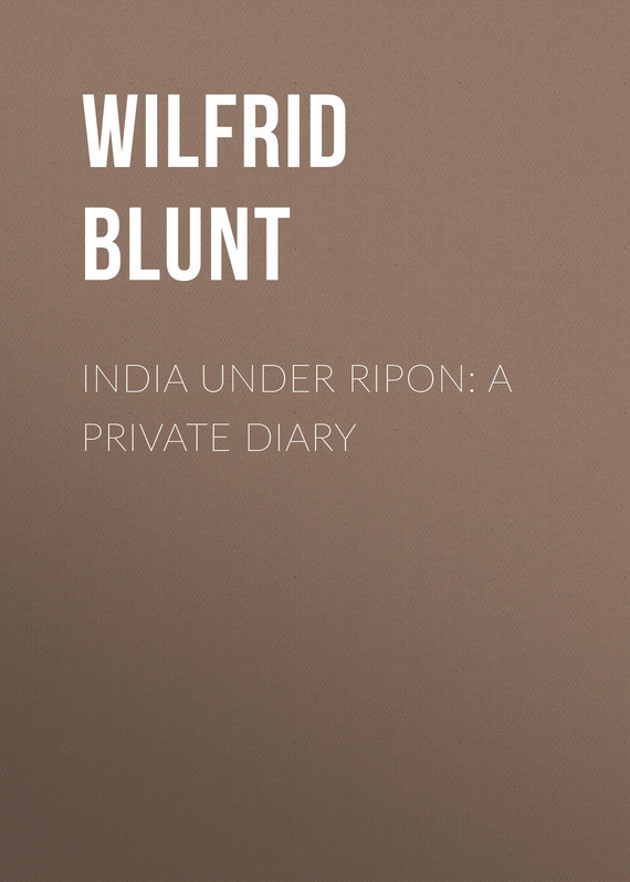 India Under Ripon: A Private Diary