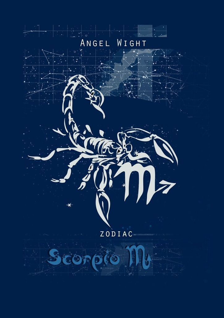 Angel Wight Scorpio. Zodiac russian phrase book