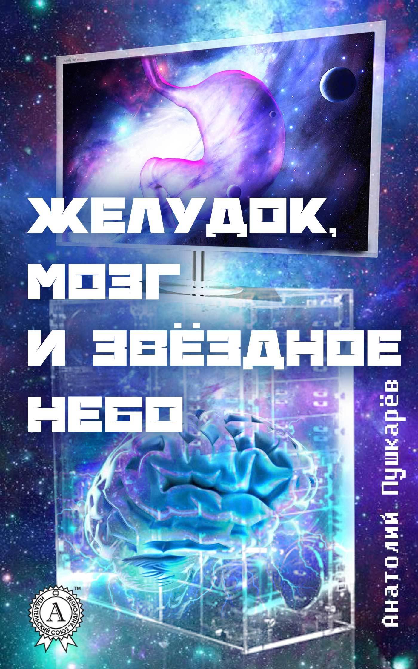 Анатолий Пушкарёв Желудок, мозг и звёздное небо подушка 40х40 с полной запечаткой printio звёздное небо