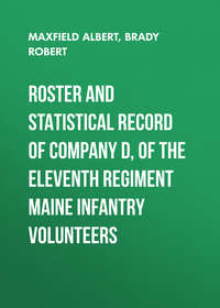 Maxfield Albert - Roster and Statistical Record of Company D, of the Eleventh Regiment Maine Infantry Volunteers