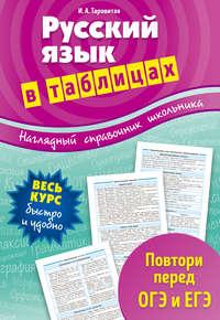 Ирина Александровна Таровитая - Русский язык в таблицах