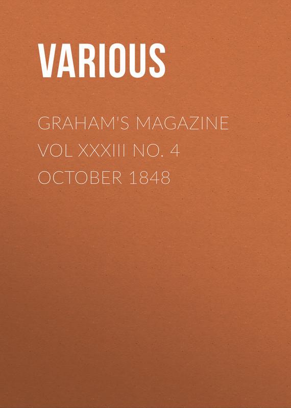Various Graham's Magazine Vol XXXIII No. 4 October 1848 finance no 3 bill vol 4