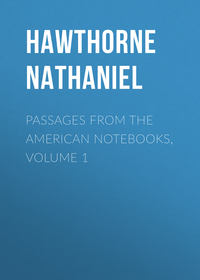 Hawthorne Nathaniel - Passages from the American Notebooks, Volume 1