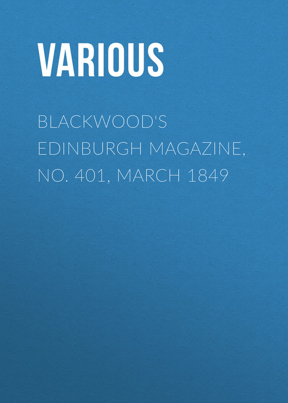 Various Blackwood's Edinburgh Magazine, No. 401, March 1849 lau edinburgh