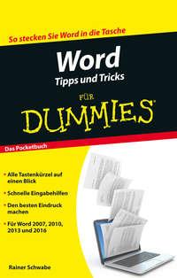 Schwabe Rainer W. - Word Tipps und Tricks f?r Dummies
