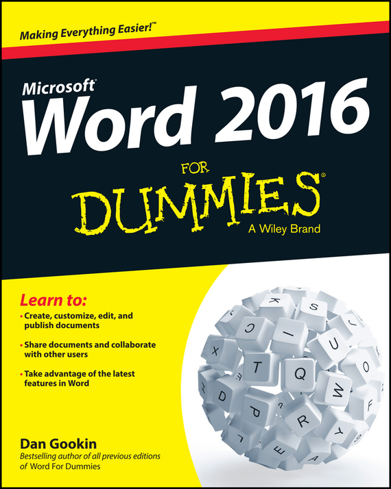 Dan Gookin Word 2016 For Dummies word 98 for macs for dummies