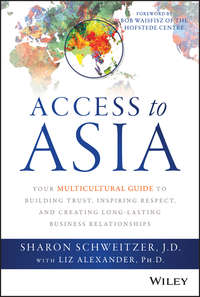 Sharon  Schweitzer - Access to Asia. Your Multicultural Guide to Building Trust, Inspiring Respect, and Creating Long-Lasting Business Relationships