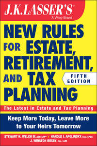 J. Busby Winston - JK Lasser's New Rules for Estate, Retirement, and Tax Planning