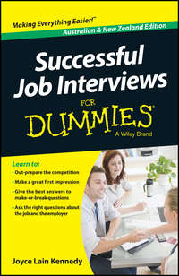 Joyce Lain Kennedy - Successful Job Interviews For Dummies - Australia / NZ