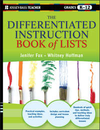 Jenifer  Fox - The Differentiated Instruction Book of Lists