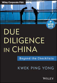Kwek Yong Ping - Due Diligence in China. Beyond the Checklists
