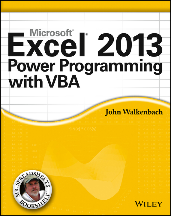 John  Walkenbach Excel 2013 Power Programming with VBA robust watermarking and its applications to communication problems