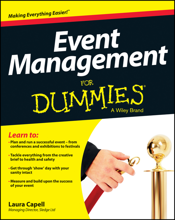 Laura Capell Event Management For Dummies ISBN: 9781118591093 finance and investments