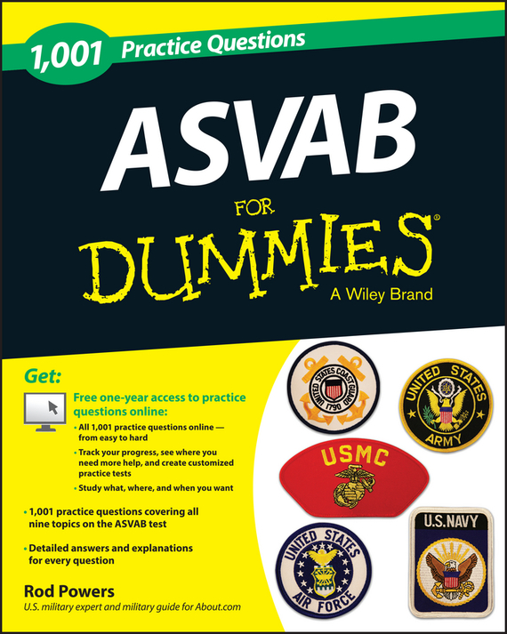 Rod Powers 1,001 ASVAB Practice Questions For Dummies (+ Free Online Practice) steven rice m 1 001 series 7 exam practice questions for dummies