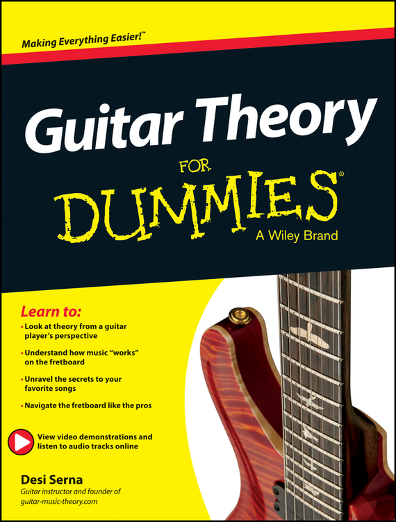 Desi Serna Guitar Theory For Dummies. Book + Online Video & Audio Instruction free delivery of high quality custom shop electric guitar black hardware ebony bound lp guitar wholesale and retail real phot