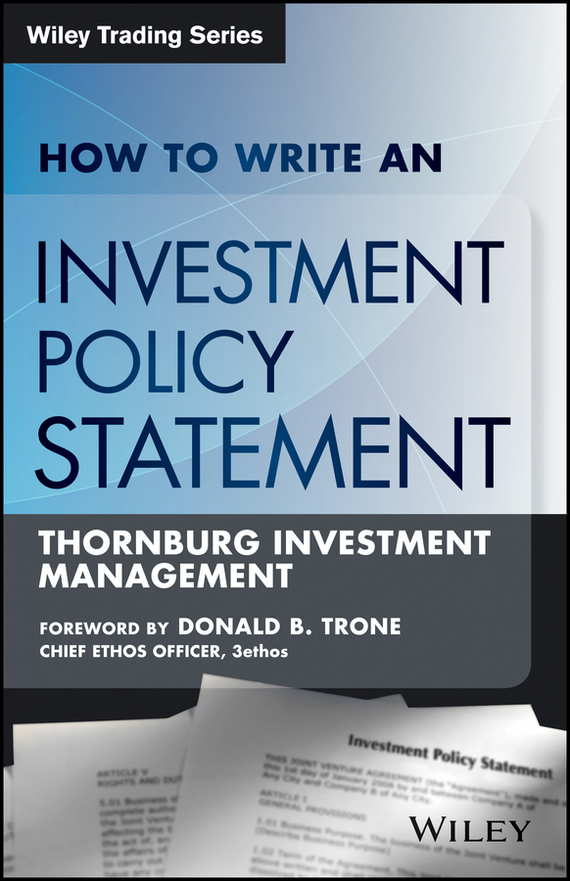 Rocco  DiBruno How to Write an Investment Policy Statement