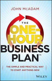 John  McAdam - The One-Hour Business Plan. The Simple and Practical Way to Start Anything New