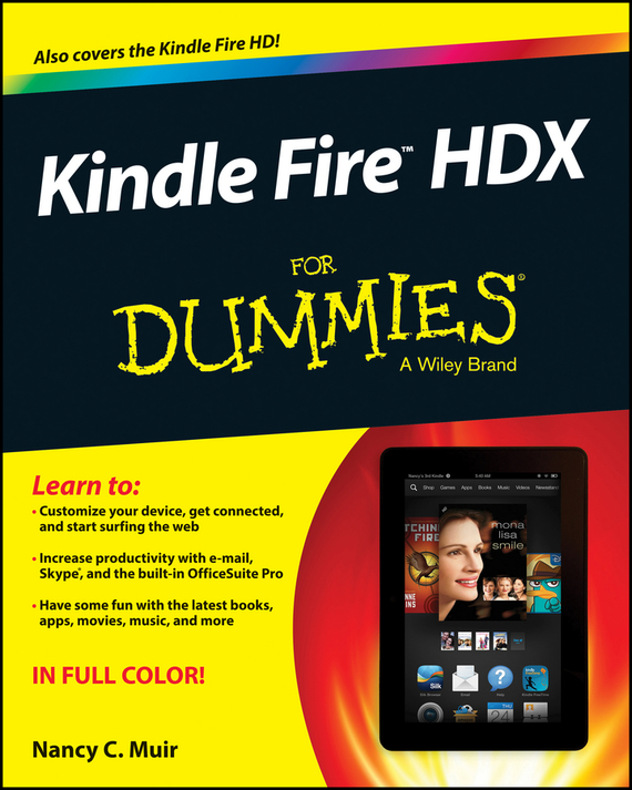 Nancy Muir C. Kindle Fire HDX For Dummies coco vision rotating pu leather case cover for kindle fire hd 7 inch 2012 old model