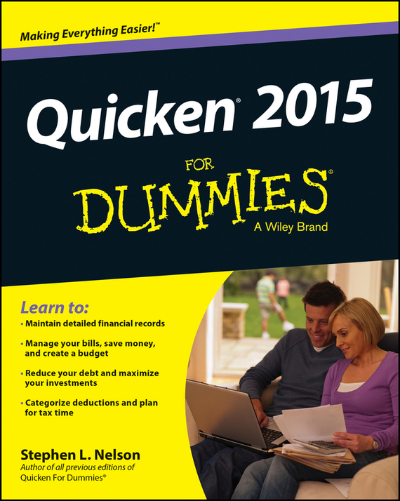 Stephen L. Nelson Quicken 2015 For Dummies ayse evrensel international finance for dummies