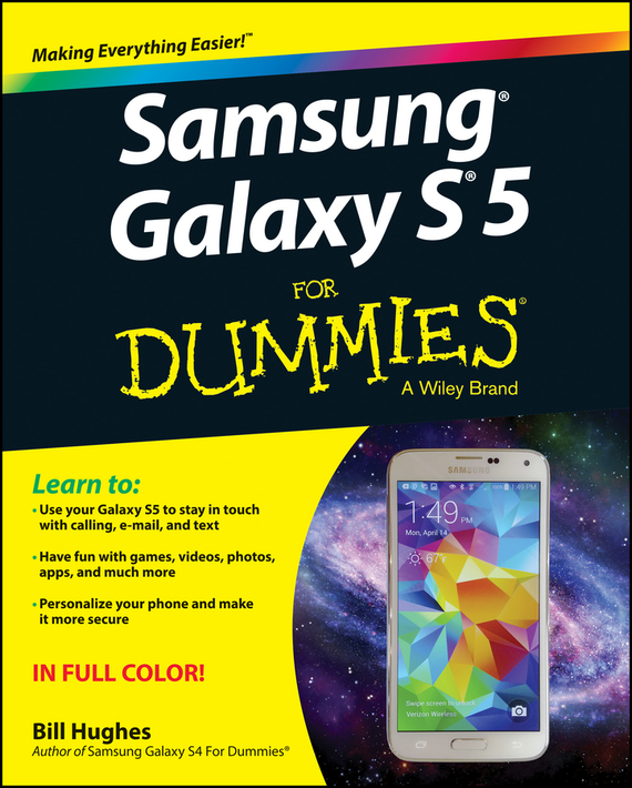 Bill Hughes Samsung Galaxy S5 For Dummies samsung g900h galaxy s5 16гб белый в омске