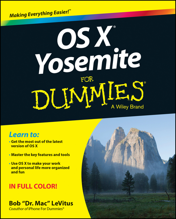 Bob LeVitus OS X Yosemite For Dummies laptop palmrest