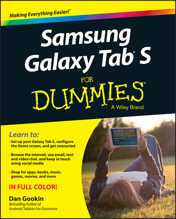 Dan Gookin Samsung Galaxy Tab S For Dummies laptop palmrest