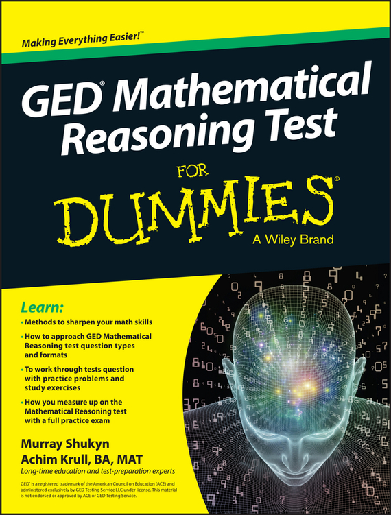 Murray Shukyn GED Mathematical Reasoning Test For Dummies ISBN: 9781119030119 guaranteed 100
