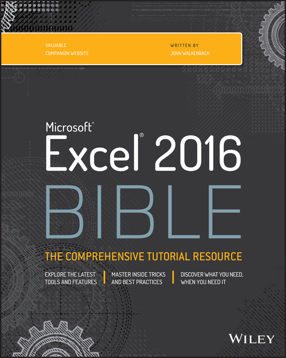 John Walkenbach Excel 2016 Bible ISBN: 9781119067498 excel 2000 for windows® for dummies® quick reference