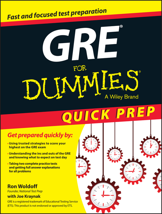 Ron  Woldoff GRE For Dummies Quick Prep
