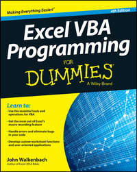 John  Walkenbach - Excel VBA Programming For Dummies