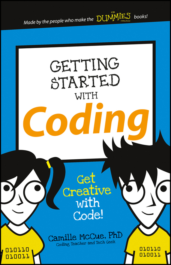 Camille  McCue Getting Started with Coding. Get Creative with Code! active cut out letter pattern weave sleeves sweatshirts in white