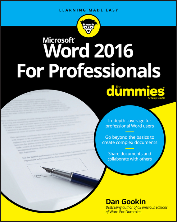Dan Gookin Word 2016 For Professionals For Dummies