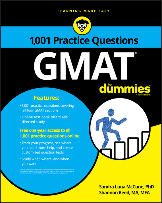 Shannon Reed 1,001 GMAT Practice Questions For Dummies arthur hsieh emt exam for dummies with online practice