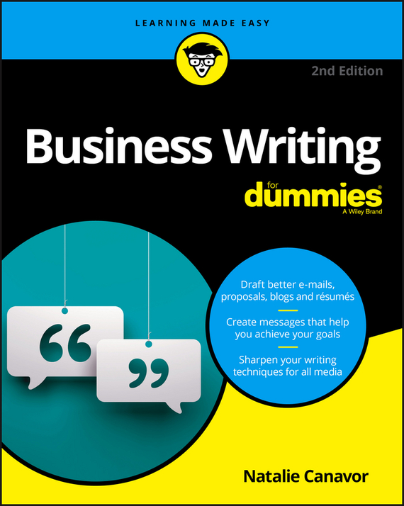 Natalie Canavor Business Writing For Dummies запонки mitya veselkov ножи