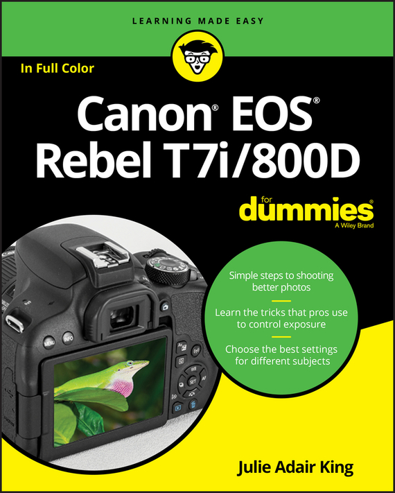 Julie Adair King Canon EOS Rebel T7i/800D For Dummies king julie adair canon eos rebel t7i 800d for dummies