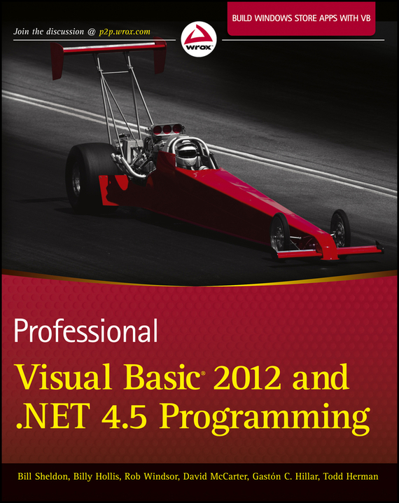 Billy  Hollis Professional Visual Basic 2012 and .NET 4.5 Programming троелсен э visual basic 2005 и платформа net 2 0
