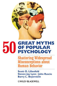 John  Ruscio - 50 Great Myths of Popular Psychology. Shattering Widespread Misconceptions about Human Behavior