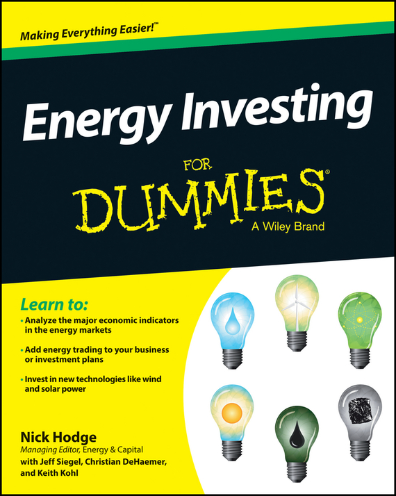 Jeff  Siegel Energy Investing For Dummies sherwood neiss getting started with crowdfund investing in a day for dummies