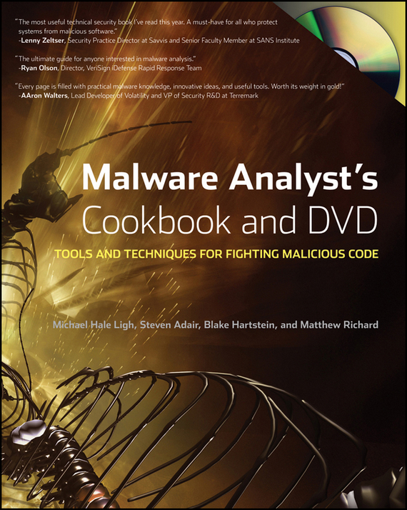 Michael  Ligh Malware Analyst's Cookbook and DVD. Tools and Techniques for Fighting Malicious Code ботинки milana