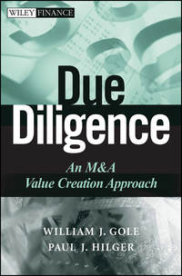 William Gole J. - Due Diligence. An M&A Value Creation Approach