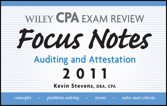 Kevin  Stevens Wiley CPA Examination Review Focus Notes. Auditing and Attestation 2011 a classic concert cat stevens tea for the tillerman live