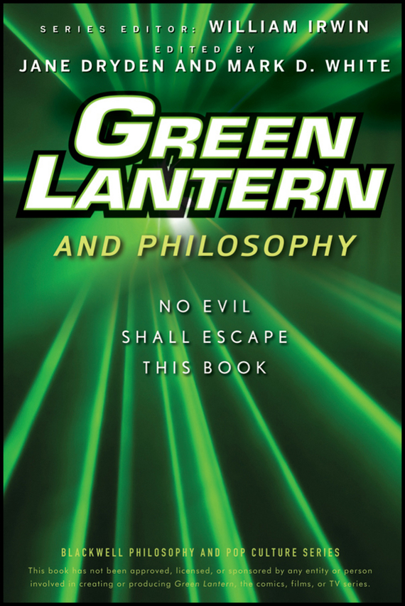 William Irwin Green Lantern and Philosophy. No Evil Shall Escape this Book lantern sleeve shirred open shoulder blazer