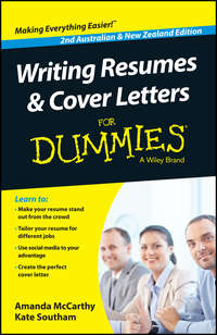 Amanda  McCarthy - Writing Resumes and Cover Letters For Dummies - Australia / NZ
