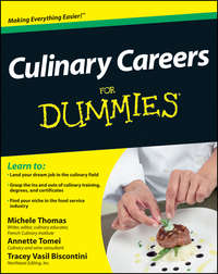 Tracey  Biscontini - Culinary Careers For Dummies