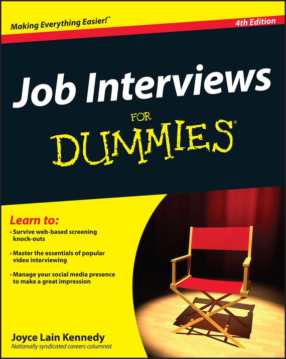 Joyce Lain Kennedy Job Interviews For Dummies ISBN: 9781118224182 kerry hannon getting the job you want after 50 for dummies