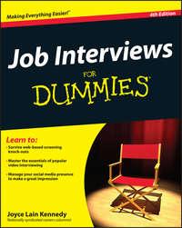 Joyce Lain Kennedy - Job Interviews For Dummies