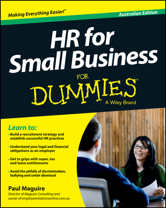 Paul Maguire HR For Small Business For Dummies - Australia colin rule online dispute resolution for business b2b ecommerce consumer employment insurance and other commercial conflicts isbn 9780787967765