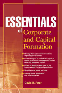 David Fater H. - Essentials of Corporate and Capital Formation
