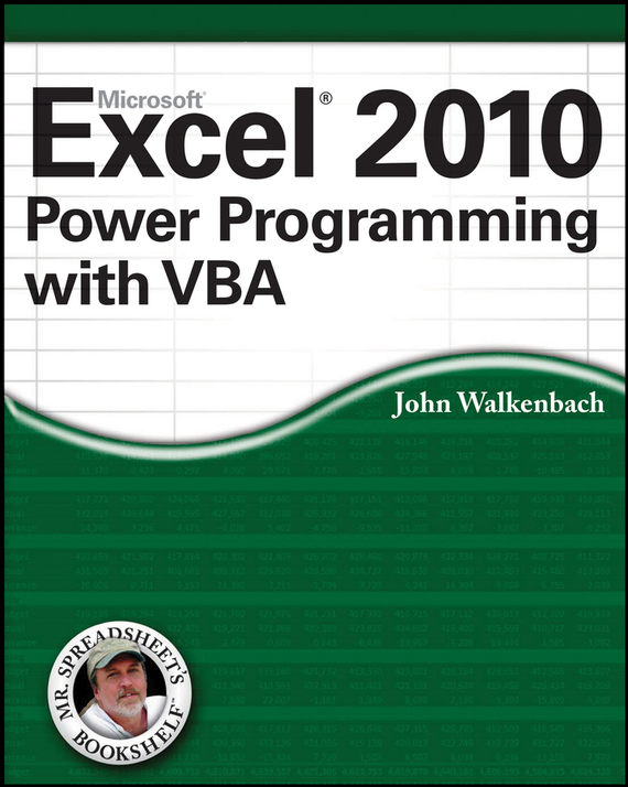 John  Walkenbach Excel 2010 Power Programming with VBA an incremental graft parsing based program development environment